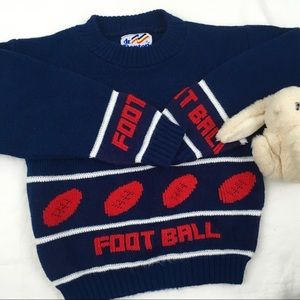 Vintage Football Chunky Knit Sweater